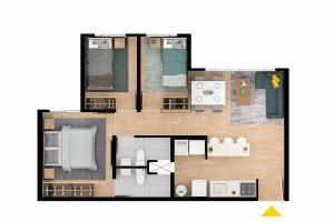 Planta-Apartamento-Tipo